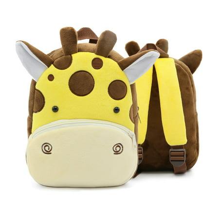 3D Children Kids Toddler Preschool Kindergarten Backpack for Boys Girls, Super Cute Cartoon Travel Lunch Bags, Cute Giraffe Design for 2 - 4 Years