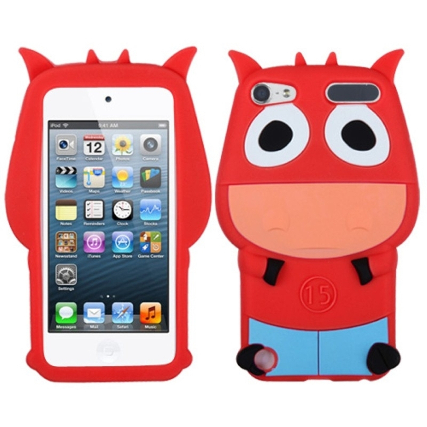 Insten Red Cow Pastel Skin Case for iPod touch (5 5G 5th 6 6G 6th Gen)