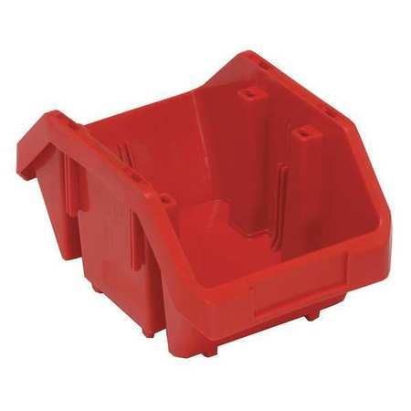 - Quantum Storage Systems 40 lb Capacity, Cross-Stacking Bin, Double Hopper, Red QP965RD