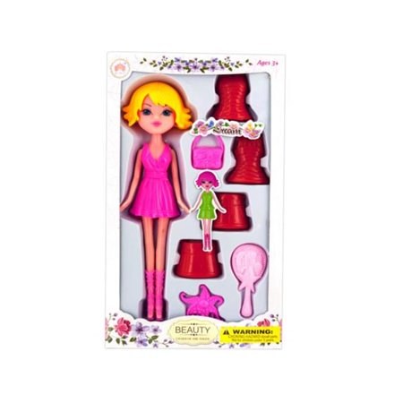 Kole Imports KL259-4 Colorful Changing Dress Doll, Pack of 4 - Imported Dresses