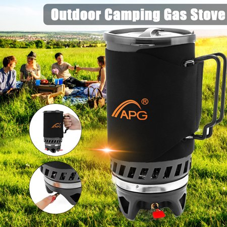 1.4L 1600W Lightweight Cooking Cookware Portable APG Gas Stove Mini BBQ Cup Camping Cooking Furnace