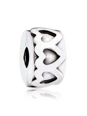 29ce7b43b Product Image Row of Hearts Silver Charm - 791978. Product TitlePANDORARow  ...