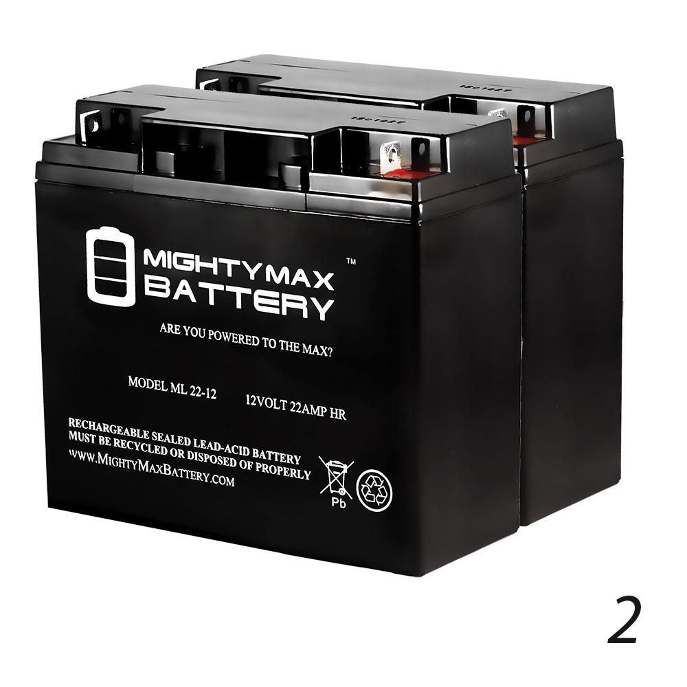 12V 22AH SLA Battery for Solaris Lite LED Flood Light - 2 Pack