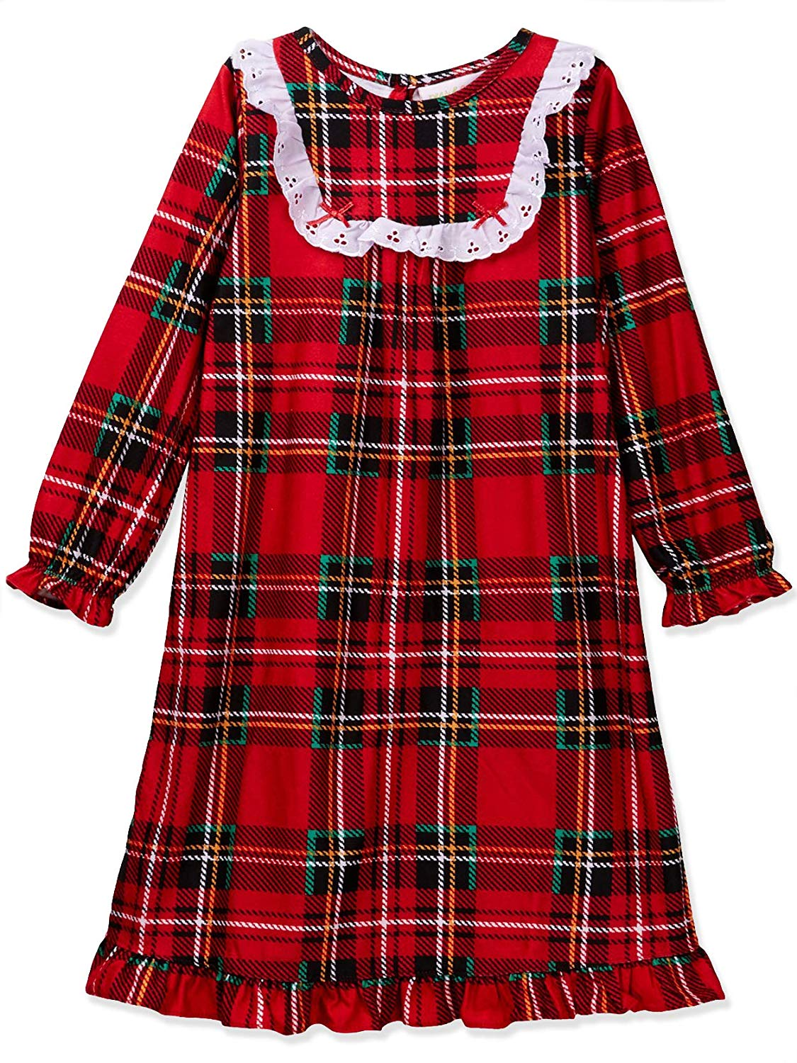 Plaid Girls Flannel Nightgown Style Red Granny 7TTwZqE