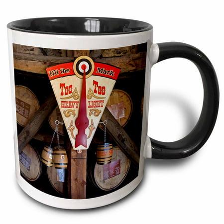 3dRose Kentucky, Makers Mark Bourbon in wood distillery - US18 LNO0001 - Luc Novovitch - Two Tone Black Mug,