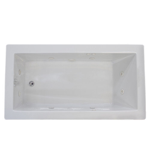 Spa Escapes Guadalupe 71.63'' x 32.5'' Rectangular Whirlpool Jetted Bathtub with Drain