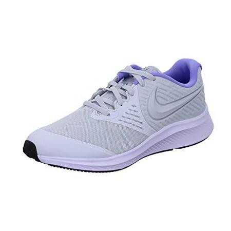 Nike Girls Star Runner 2 Running Shoes Sneakers, Photon Dust White Light, 6 M