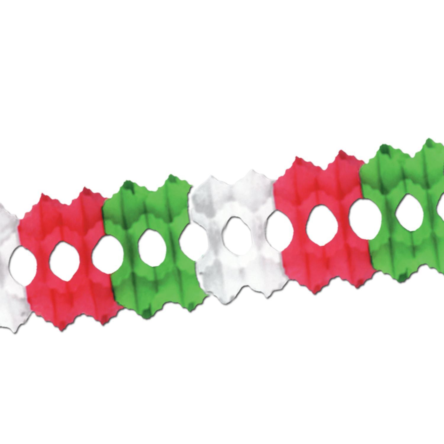 (Pack of 12) Cinco de Mayo Party Arcade Garland red, white, green