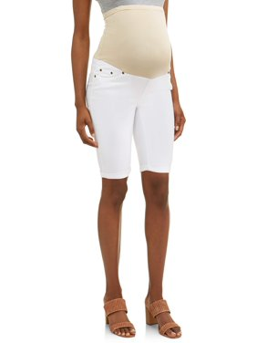 9d4b4cef2a46c Product Image Oh! Mamma Maternity Over Belly Twill Bermuda Shorts -  Available in Plus Sizes
