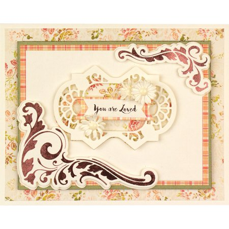 Spellbinders Amazing Papers Grace Glimmer Hot Foil Plate-Guilded Leaves Shaped Panel