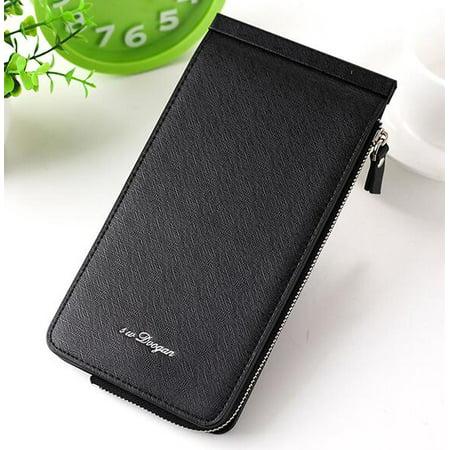 Meigar Women Multi-Card Slot Long Wallet Zipper Handbag
