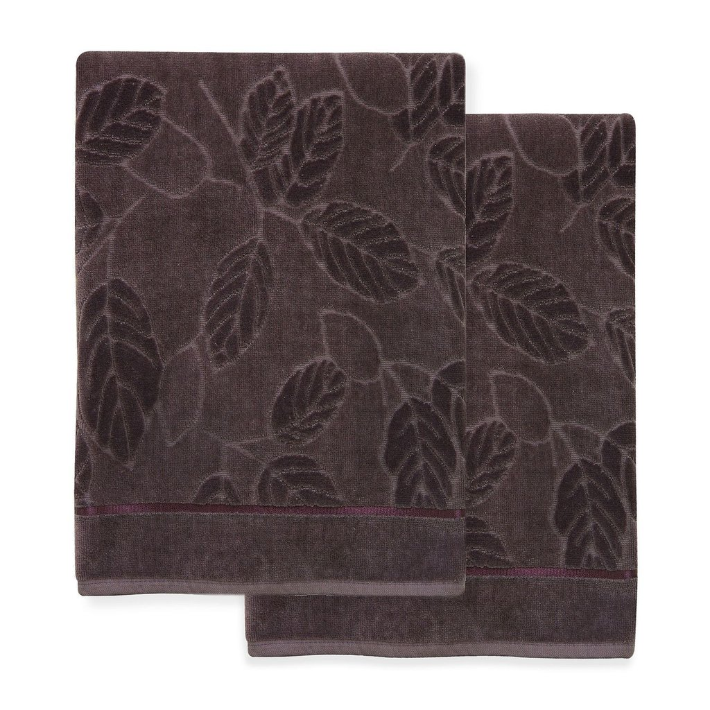 Mystic 2-Piece Purple Bath Towel Set