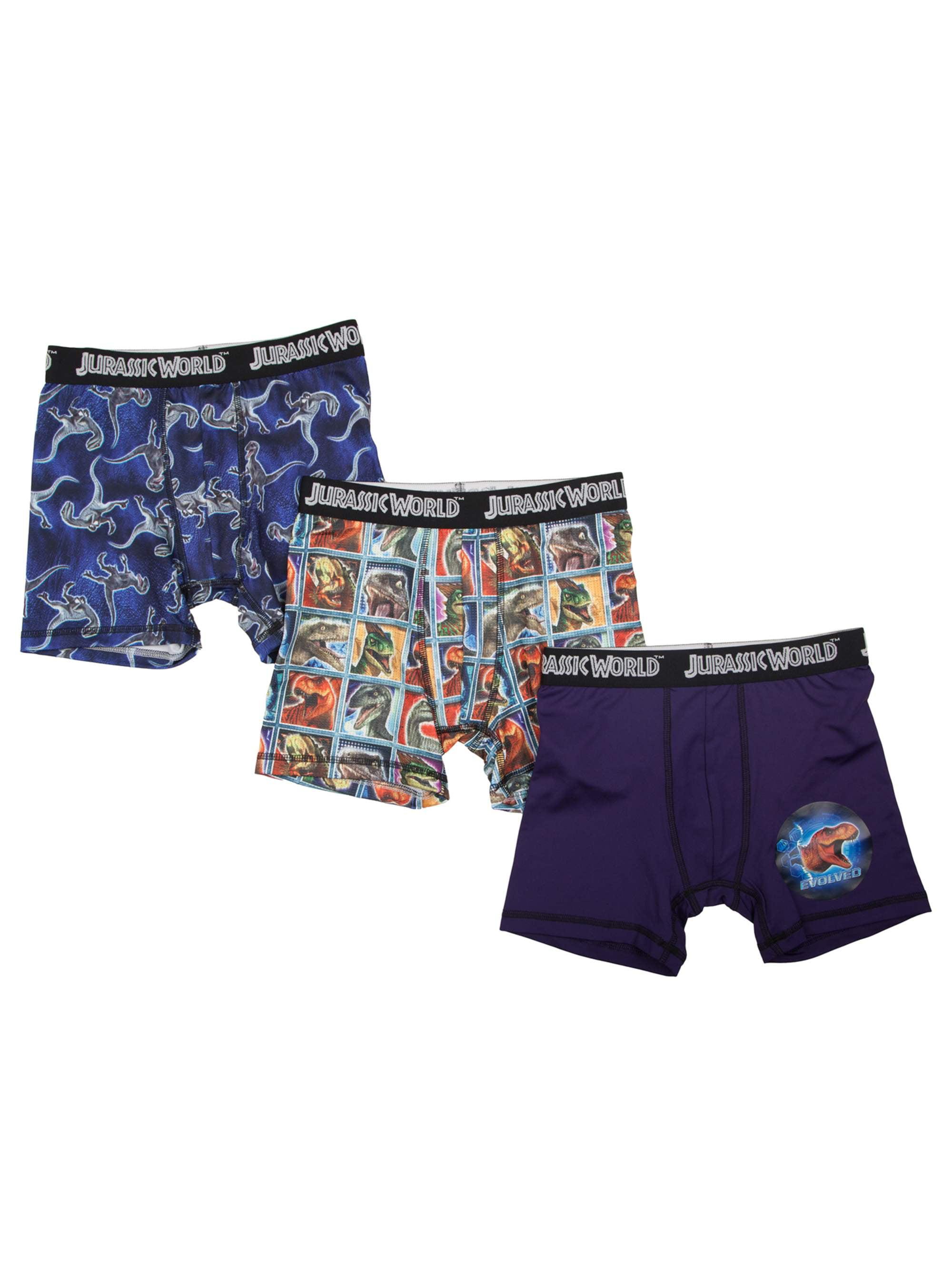 62692ded69 Jurassic World - Boy's Poly Boxer Briefs, 3 Pack - Walmart.com