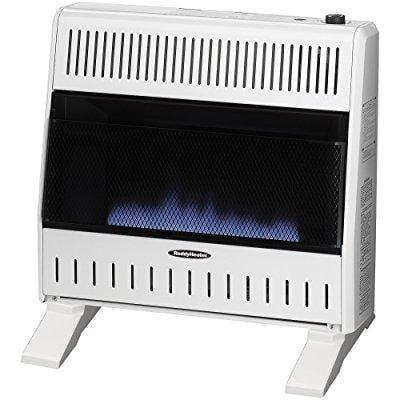 sure heat 30,000 btu blue flame dual fuel gas space heate...