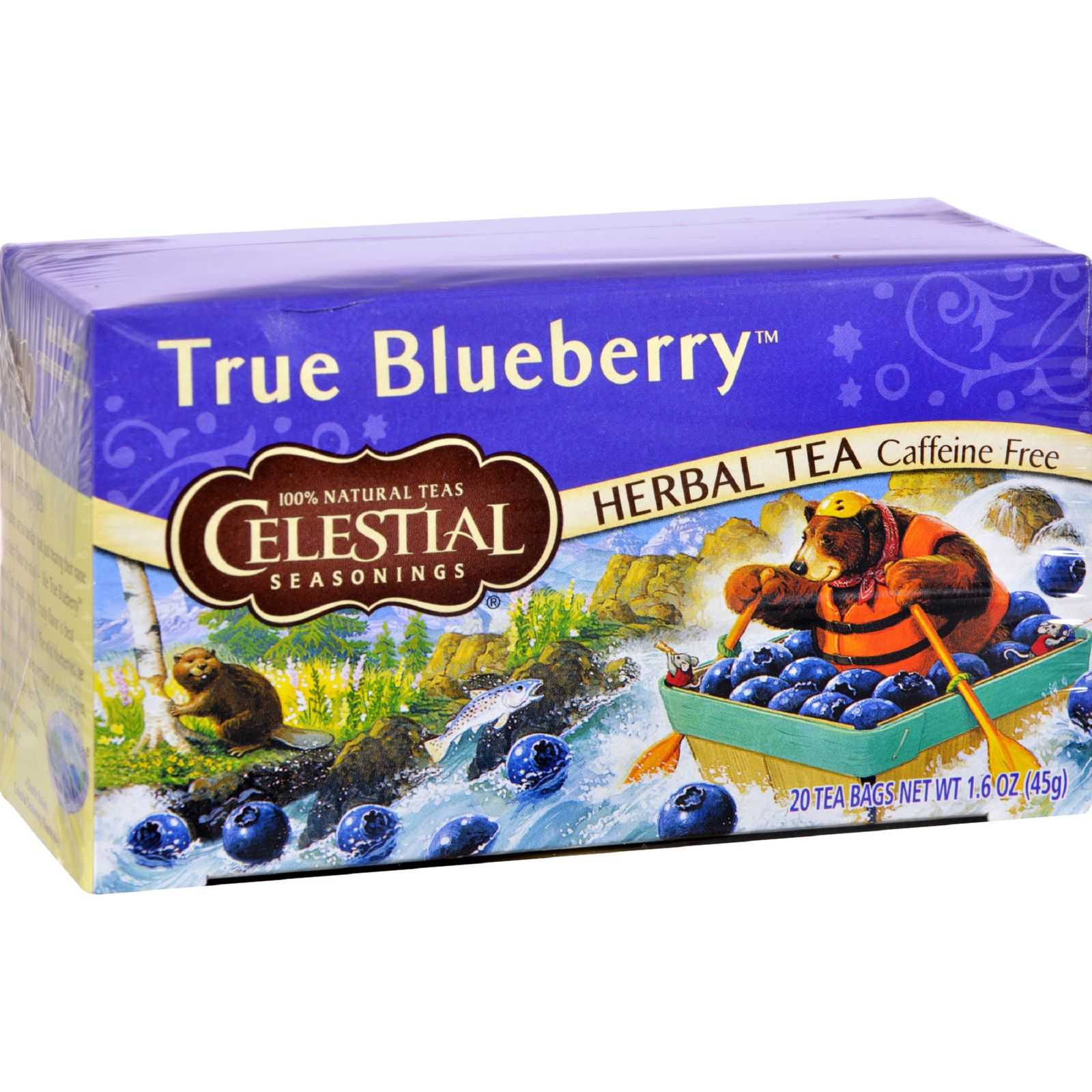 Celestial Seasonings Herbal Tea Caffeine Free True Blueberry 20 Bags (Pack of 3) by U-Nutra