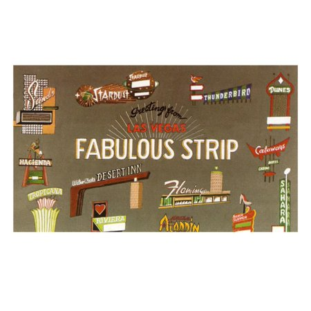 Fabulous Strip, Las Vegas Hotel Signs, Nevada Print Wall (Running Las Vegas Strip)