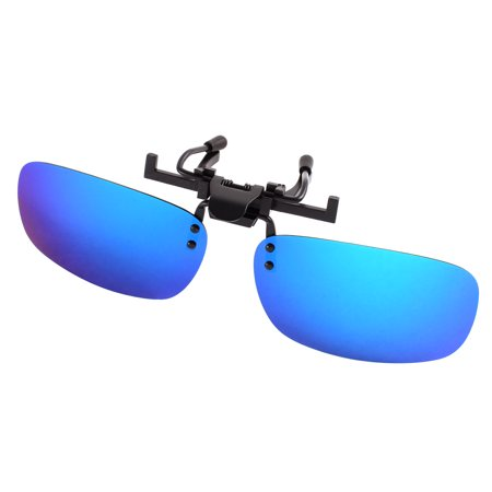 Unisex Cycling Gradient Blue Lens Rimless Clip On Polarized (Gradient Polarized Lenses)