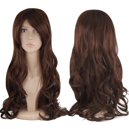 Yaheetech Adult Halloween Wig Long Wavy Curly Cosplay Wig,Great Attach To Party Fancy Dress,Blonde - Long Red Wig