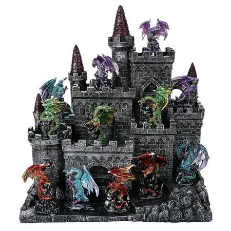 Medieval Times Fantasy Dragon set with Castle - set of 13