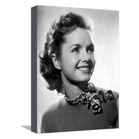Debbie Reynolds Portrait wearing Blouse with Scarf Stretched Canvas Print Wall Art By Movie Star News (Debbie Reynolds Halloween)