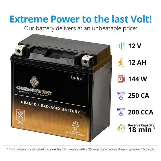 ATV Battery YTX14-BS for Honda TRX 500 420 450 350 300