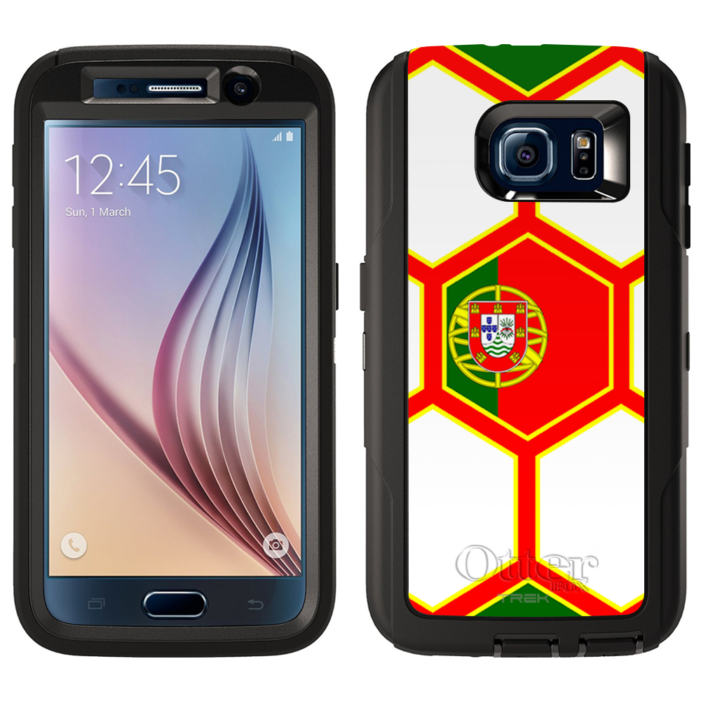 Skin Decal for Otterbox Defender Samsung Galaxy S6 Case Soccer Ball Portugal... by Trek Media Group