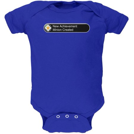 New Achievement Minion Created Funny Soft Baby One - Onesie Minion