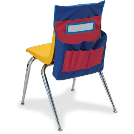 Pacon Chair Storage Pocket Chart, Red and Blue, 18.5