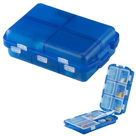 7 Day Medicine Storage Pill Box Vitamin Organizer Travel Container Case BPA Free (Bpa Free Pill Bags)