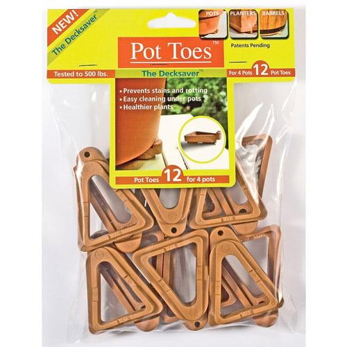 Plantstand PT-12TCHT Terra Cotta Pot Toes 12 Pack