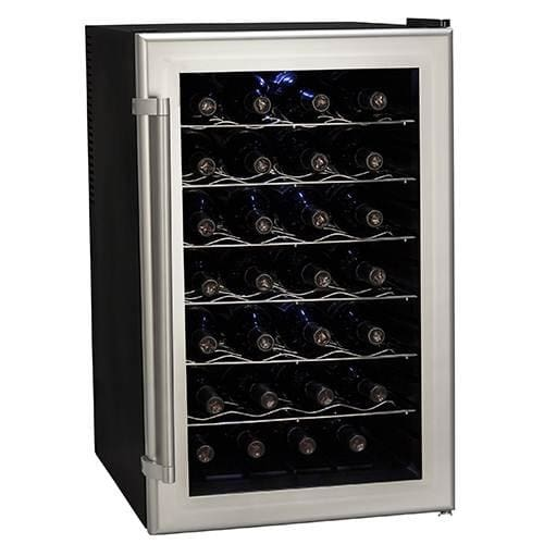 "Koldfront TWR282 18"" Wide 28 Bottle Wine Cooler with Thermoelectric Cooling"