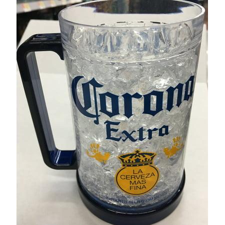 16 Oz Beer Mugs (Corona Extra Logo 16 Ounce Freezable Beer)