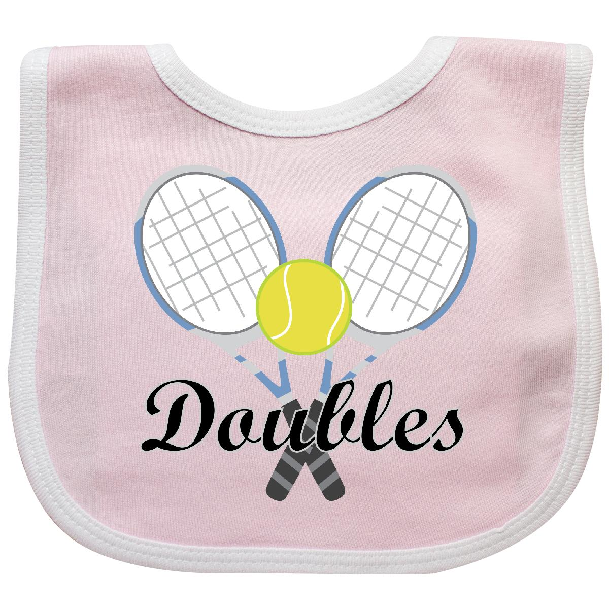 Inktastic Tennis Doubles Sports Baby Bib Racket Racquet Ball Womens Mens Gift by Inktastic