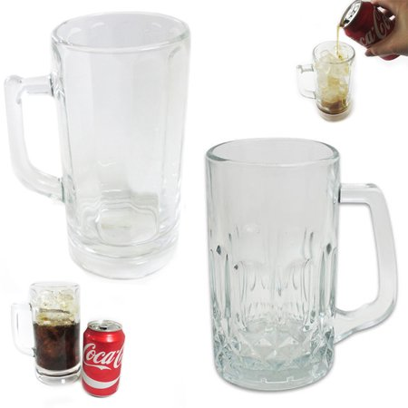 2 Pc Beer Glass Mug Freezer Frosty 20 oz Cold Stein Chilled Frozen Drink Cup