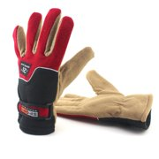 Horypt Autumn and Winter Outdoor Riding Fleece Warm All-finger Gloves Motorcycle Electric Bicycle Windproof and Anti-freezing Gloves