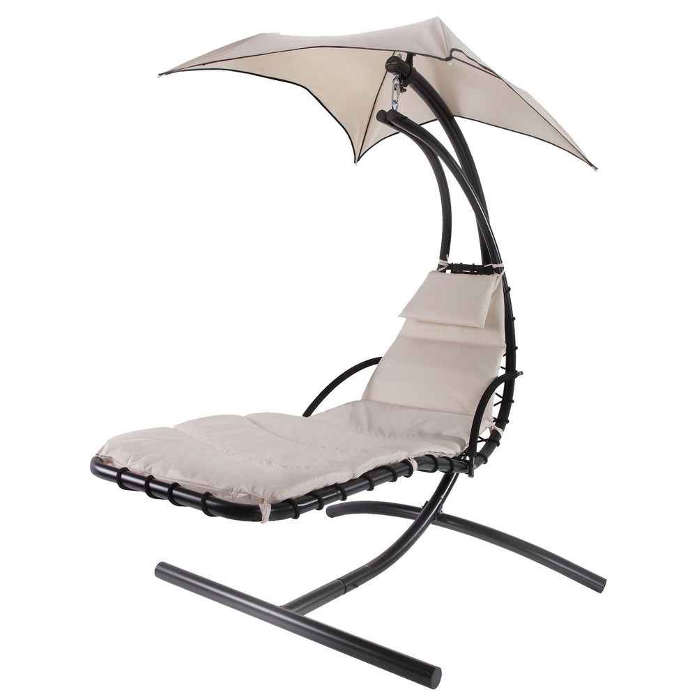 Palm Springs Outdoor Hanging Chair Recliner Swing Air Chaise Longue Cream