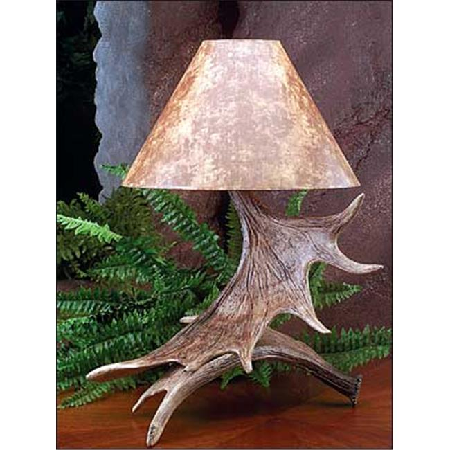 Hughes Collection HP-66588 19 x 25 in. Moose Antler Lamp