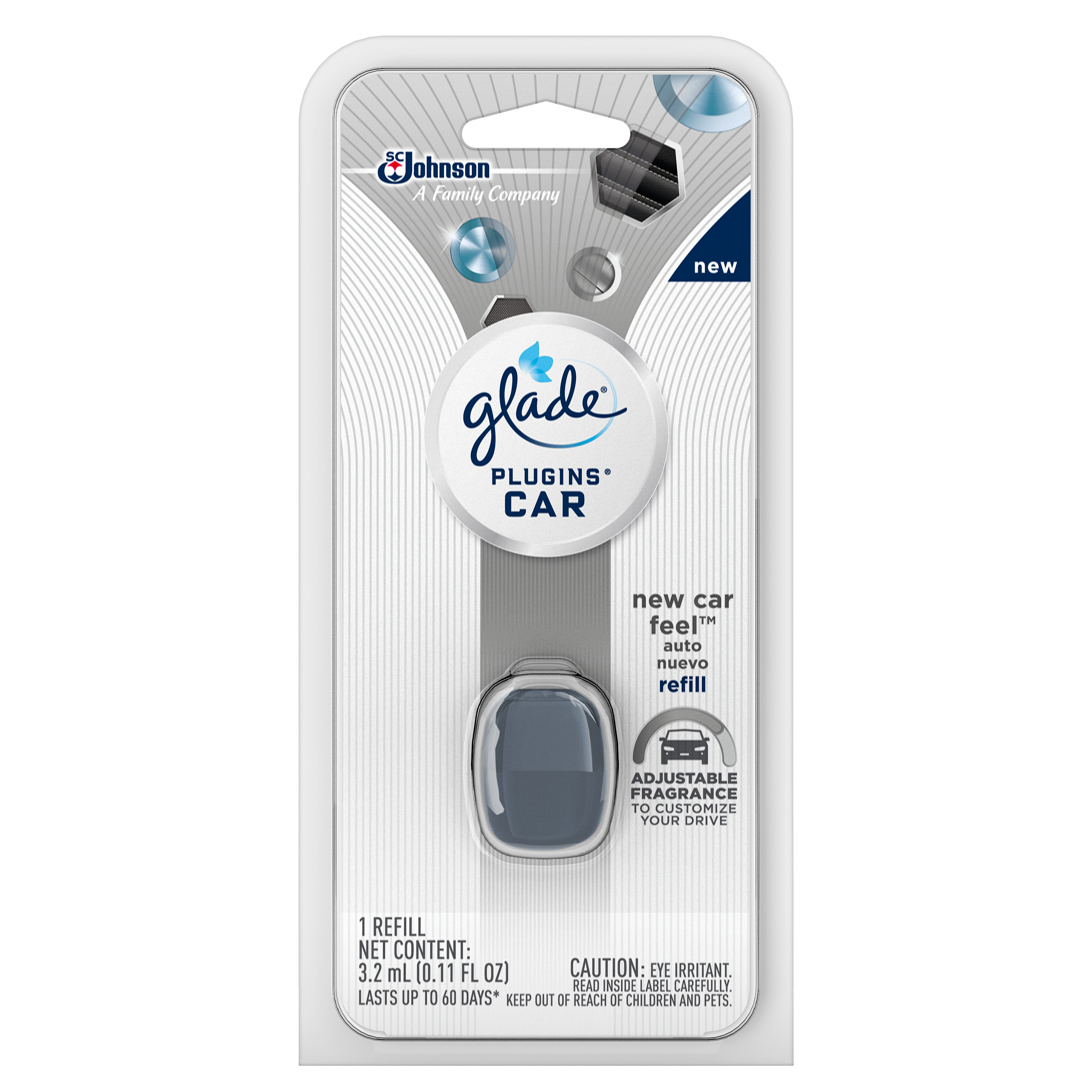 Glade PlugIns Car Air Freshener Refill, Blue Odyssey, 0.11 Fluid Ounces