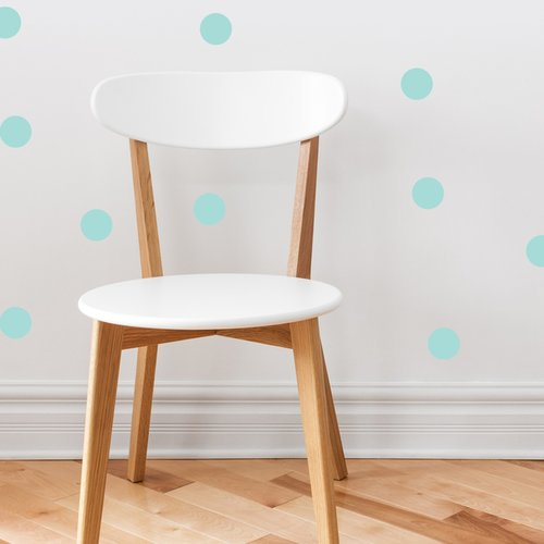 Sunny Decals Polka Dot Fabric Wall Decal (Set of 48)