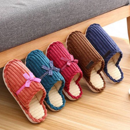 f1470bdfd8e745 Nicesee - Women Men Fleece Warm Home Indoor Slippers Soft Fluffy Couple  Shoes - Walmart.com