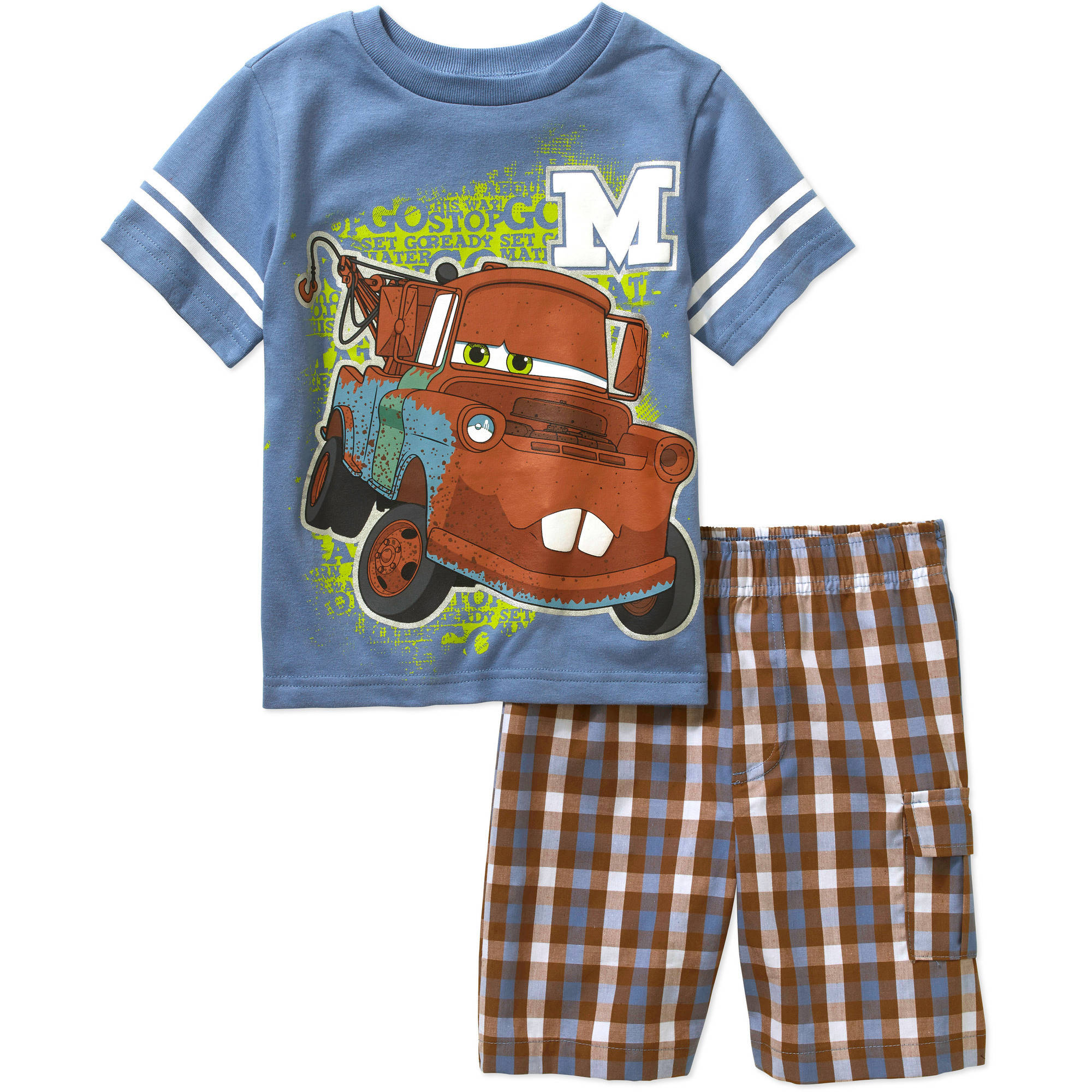 Disney Cars Mater Toddler Boys' Tee and Shorts Outfit Set