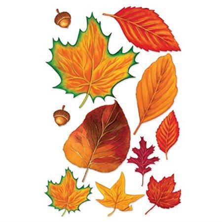 Beistle 99097 Fall Leaf Cutouts, 2.25