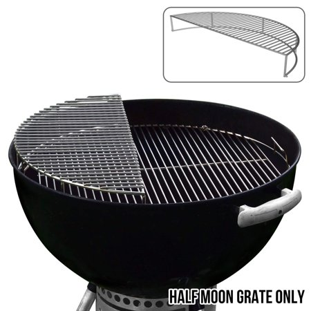 Image of The Original 'Upper Deck' Stainless Steel Grilling Rack/Warming Rack/Smoking Rack/Charcoal Grill Grate- Use with Weber 22 inch Kettle Grill- Charcoal Grilling Accessories and Grill Tools Grill Rack?