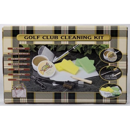 Golf Cleaning Kit (Clubhouse Collection Golf Club Cleaning Kit Club Cleaner Brush Sponges)