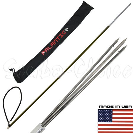 CARBON FIBER 5' Travel Spearfishing Two-Piece Pole Spear 3 Prong Paralyzer & Bag