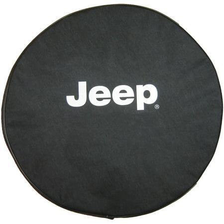 "SpareCover Brawny Series - Jeep 32"" Silver Metallic logo Tire Cover"
