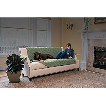 Hawthorne Ultra Plush Furniture Protector By Home Fashion Designs Brand (Sofa, Thyme / Sand)