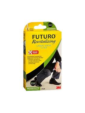 Futuro Revitalizing Men Casual Socks, Black, Medium, 1 Pair