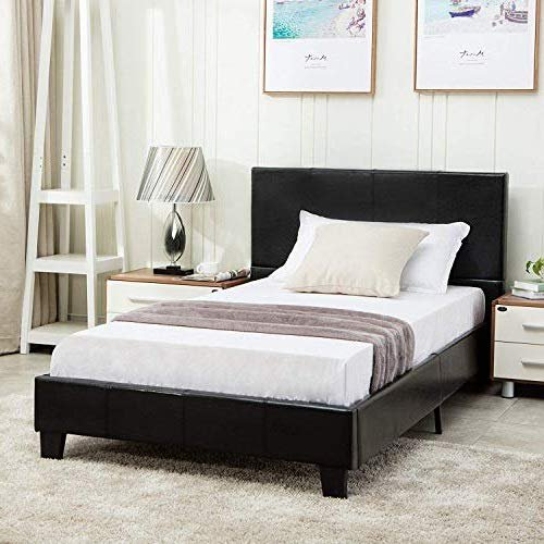 Mecor Twin Size Bed Frame Faux, How Much Is A Twin Size Bed Frame