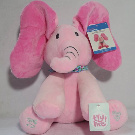 Singing Plush Flappy Pink Elephant Plays Peek a Boo and Sings 'Do Your Ears Hang Low' To Delight Baby](Peek A Boo Halloween Bear)